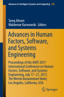 Advances in Human Factors  Software  and Systems Engineering