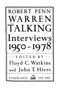 Robert Penn Warren Talking