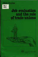 Job Evaluation and the Role of Trade Unions