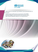 Health System Performance Assessment In The Who European Region