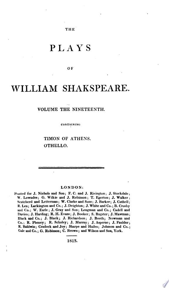 Timon of Athens  Othello