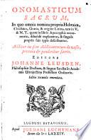 Onomasticum sacrum