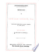Memoirs of Edward Gibbon  Esq