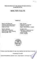 Proceedings Of The Fifth International Symposium On Molten Salts