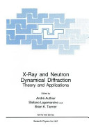 X Ray and Neutron Dynamical Diffraction