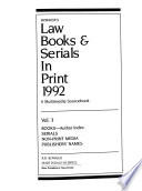 Bowker's Law Books and Serials in Print 1992  : A Multimedia Sourcebook