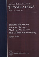 Selected Papers on Number Theory, Algebraic Geometry, and Differential Geometry