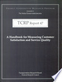 A Handbook for Measuring Customer Satisfaction and Service Quality Book
