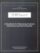 A Handbook for Measuring Customer Satisfaction and Service Quality