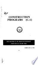Military Construction Appropriations for 1983 Book