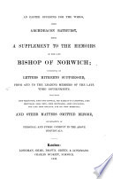 An easter offering for the whigs     being a supplement to the memoirs of the late bishop of Norwich