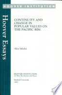 Continuity and change in popular values on the Pacific Rim Pdf/ePub eBook