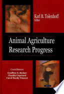 Animal Agriculture Research Progress Book PDF