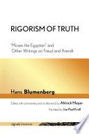 Rigorism of Truth Book PDF