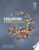 Evaluation of the UNDP Strategic Plan and Global and Regional Programmes