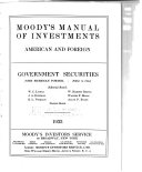 Mergent Moody's Municipal & Government Manual