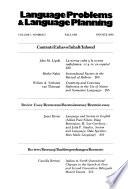Language Problems & Language Planning