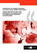 Guidelines for Quality Provision in Cross-border Higher Education Pdf/ePub eBook