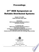 21st IEEE Symposium on Reliable Distributed Systems