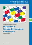 Pdf Evaluation in German Development Cooperation