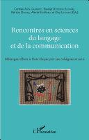 Pdf Rencontres en sciences du langage et de la communication Telecharger