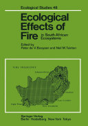 Pdf Ecological Effects of Fire in South African Ecosystems Telecharger