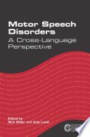 Motor Speech Disorders PDF