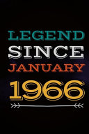 Legend Since January 1966   Gift for a Legend Born in January