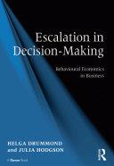 Escalation in Decision-Making Pdf