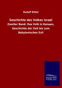 Geschichte Des Volkes Israel