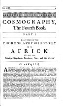 Cosmography in Four Books. Containing the chorography and history of the whole world ... Revised and corrected by the author, etc