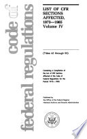 Code Of Federal Regulations Titles 42 Through 50