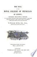 The roll of the Royal College of Physicians of London  Continued to 1993