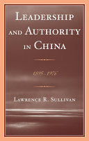 Leadership and Authority in China