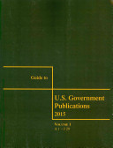 Guide To Us Government Publications 2015