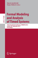 Formal Modeling and Analysis of Timed Systems Pdf/ePub eBook