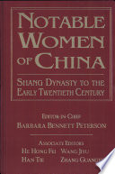 """""""Notable Women of China"""" by Barbara Bennett Peterson"""