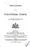 Regulations For The Volunteer Force Dated War Office 18th September 1863