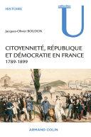 Pdf Citoyenneté, République et Démocratie en France Telecharger