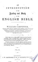 An Introduction To The Reading And Study Of The English Bible