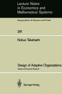 Design of Adaptive Organizations