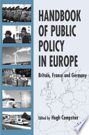 Handbook of Public Policy in Europe