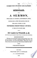 The Subjection Of Kings And Nations To Messiah A Sermon Preached On December 6 1819 Etc