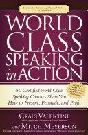 World Class Speaking in Action Pdf/ePub eBook