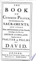 The Book Of Common Prayer And Administration Of The Sacraments Together With The Psalter  PDF