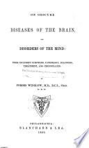 On Obscure Diseases of the Brain and Mind Book
