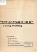 The Better War II  Book