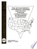 State and Local Initiatives on Productivity, Technology, and Innovation, Enhancing a National Resource for International Competitiveness by Barbara J. Lipman PDF