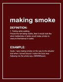 Urban Dictionary Funny 'making Smoke' Lined Notebook. Journal & Exercise Book (Red)