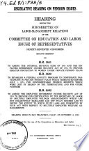 Legislative Hearing On Pension Issues